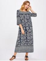 Paisley Print Longline Dress