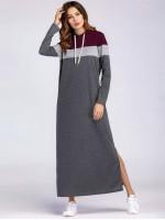 Color Block Split Side Tee Dress