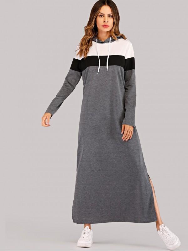 Color Block Split Side Dress