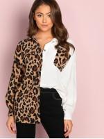 Button Up Leopard Jacket