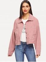 Corduroy Single Breasted Jacket