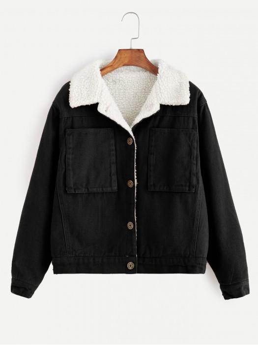 Contrast Sherpa Lined Jacket