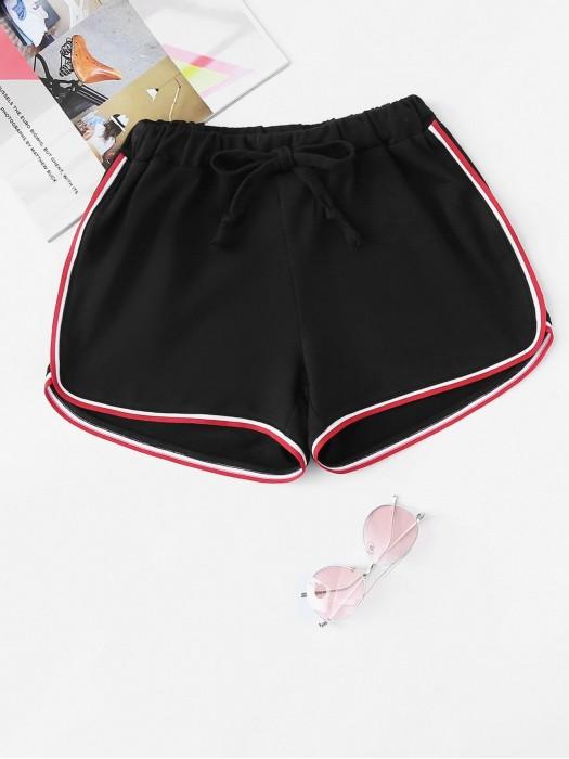 Contrast Trim Shorts