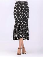 Button Polka Dot Skirt
