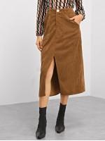 Pocket Patched Slit Cord Skirt