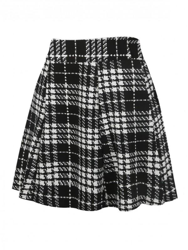 50s Plaid Print Skirt
